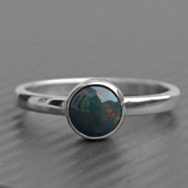 Bloodstone Women Ring