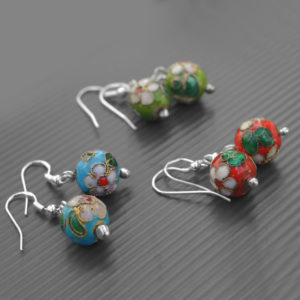 Cloisonne Earrings