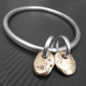 nugget gold bangle