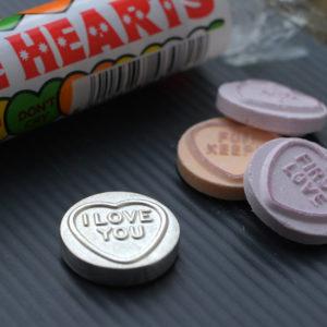 silver love heart