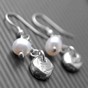 Pearl Nugget Earrings
